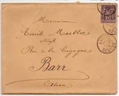 LUCON  - VENDEE - LETTRE POUR BARR  - 1890 - 1876-1898 Sage (Type II)
