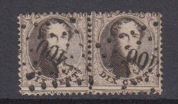 22877 LP 400 WESTERLOO Sur Paire Du 14 Médaillon - Postmarks - Points