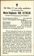 DOODSPRENTJE * BEGIJN SINT AMANDSBERG - OVERSTE CONVENT H.DRIEVULDIGHEID  - MARIE VAN EETVELDE - LOKEREN 1879 - 1957 - Images Religieuses