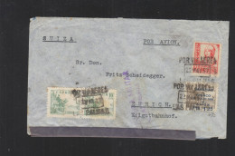 Carta Censura Las Palmas Por Suiza - 1931-Heute: 2. Rep. - ... Juan Carlos I