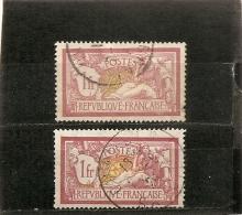 France 1900  Oblitéré  N° 121   Type Merson  1 F  -   Lie De Vin Et Olive  ( 2 Nuances ) - 1900-27 Merson