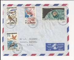 Lettre De Saint Pierre Et Miquelon De 1964 Pour Les USA - YT N° 364, 365, 366 Et PA N° 29 - Oiseau - Espace - Satellite - St.Pierre Et Miquelon