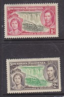 Southern Rhodesia 1937 George VI, Coronation, 1d, 2d, MH *. - Southern Rhodesia (...-1964)