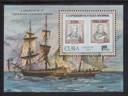 Cuba MNH Scott #2927 Souvenir Sheet 1p EXFILNA 87, 10th National Stamp Exposition, Holguin - Cuba
