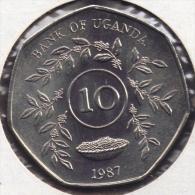 UGANDA 10 SHILLINGS 1987 - Ouganda