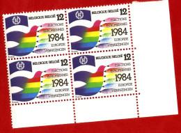 1984  -  BELGIQUE  N°  2133**   Bloc  De 4  Timbres  Neufs - Collections