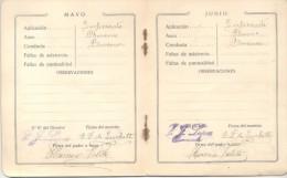 LIBRETA DE CLASIFICACIONES MENSUALES BUENOS AIRES AÑO 1917 ESCUELA MANUEL SOLA CALLE LAMBARE 975 BARRIO DE ALMAGRO - Diploma & School Reports
