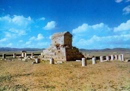 AK IRAN THE TOMB OF CYROUS THE GREAT  PAZARGADE - FARS   ALTE POSTKARTEN - Iran
