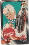USA - Coca Cola, Sprint Promotion Prepaid Card $1(48/50), Exp.date 10/97, Mint