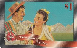 USA - Coca Cola, Sprint Promotion Prepaid Card $1(42/50), Exp.date 10/97, Mint