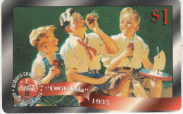 USA - Coca Cola, Sprint Promotion Prepaid Card $1(30/50), Exp.date 10/97, Mint