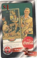 USA - Coca Cola, Sprint Promotion Prepaid Card $1(22/50), Exp.date 10/97, Mint