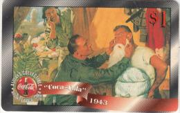 USA - Coca Cola, Sprint Promotion Prepaid Card $1(14/50), Exp.date 10/97, Mint