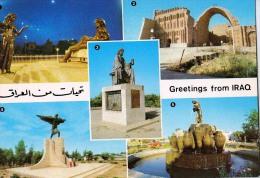 AK IRAK SHAHRAYAR ATATUE  ARCH OF CTESIPHON SALMAN PAK ALTE POSTKARTEN - Irak