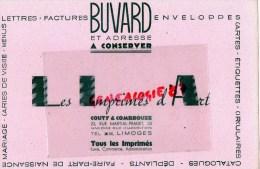 87 - LIMOGES - BEAU BUVARD IMPRIMERIE COUTY & COMBROUZE-23 RUE MARTIAL PRADET- LES IMPRIMES D´ ART - Buvards, Protège-cahiers Illustrés