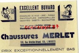 87 - LIMOGES - BEAU BUVARD CHAUSSURES MERLET - PANTOUFLES  GALOCHES- 135 RUE ARISTIDE BRIAND - Chaussures