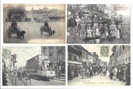 1 Lot de 50 CPA Themes villages Chemins de Fer Guadeloupe Martinique etc...