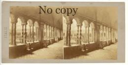 Photo Stéréo, Italie, Italia, Courtille Basilique De Saint-Paul, Circa 1870 Rome,Roma  ST70 - Stereo-Photographie