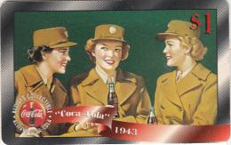 USA - Coca Cola, Sprint Promotion Prepaid Card $1(09/50), Exp.date 10/97, Mint - Sprint