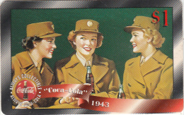 USA - Coca Cola, Sprint Promotion Prepaid Card $1(09/50), Exp.date 10/97, Mint