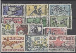 Lot CSSR 1962 ** postfrisch