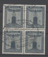 Deutsches Reich Dienst Michel No. 157 gestempelt used Viererblock Bahnpoststempel