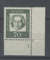 Berlin Michel No. 210 ** postfrisch Plattennummer / gefaltet