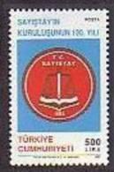 1992 TURKEY 130TH YEAR OF THE COURT OF ACCOUNTS MNH ** - Ongebruikt