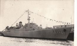 Cpa/pk 1966 Force Navale Belge Belgische Zeemacht Zinnia Echte Foto A 961 - Guerre