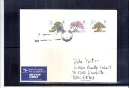 Beautiful Cover From USA To Belgium - Bonsaï (to See) - Trees