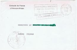 France:poste Aux Armees.allemagne.gendarmerie Francaise.villingen  1981 - Cachets Militaires A Partir De 1900 (hors Guerres)
