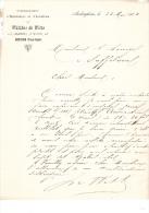 1901 Brief Lettre Invoice Walter De Witte Chausée De Wavre Augerghem Horticulture Aviculture - Belgique