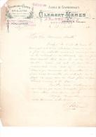 1901 Brief Lettre Factuur Invoice Clement Kenes Rue De Ribeaucourt Bruxelles Charbons Cokes - Belgique