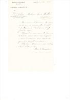 1901 Brief Lettre Facture Banque Nationale De Belgique Comptoir D'escompte Rue Savaen Gand Gent Savaanstraat - Belgique
