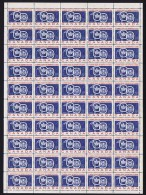 1959   St Lawrence Seaway Map Sc 387 ** Sheet Of 50 - Full Sheets & Multiples