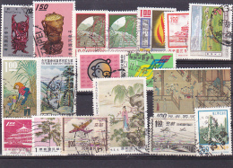 12 - CHINA REPUBLIC - REPUBBLICA DI CINA TAIWAN FORMOSA LOT 18 STAMPS USED - 1945-... República De China