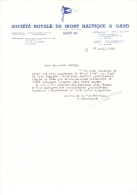 1953 Brief Lettre Facture Royale De Sport Nautique A Gand Gent Lange Munt - Belgique