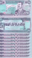 lot de 10 billets 250 dinars NEUFS