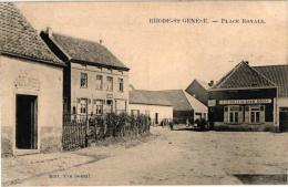 BRABANT  1 CP Rhode St Genèse   Place Royale 1909 Photo Marcivici   A La Salle Du Lion Rouge - Rhode-St-Genèse - St-Genesius-Rode