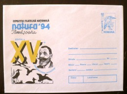 ROUMANIE Oiseaux, NATURA 94 Timisoara Entier Postal Neuf , Emis En 1994 - Climbing Birds