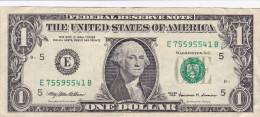 Etats-Unis d'Am�rique - Billet de 1 Dollar - George Washington - S�ries 1999 - Richmond E