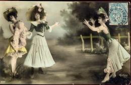 Fotokaart Carte Photo - 3 Vrouwen  - 3 Femmes - Photographe Reutlinger - Non Classés