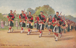 """Tuck OILETTE, No. 6412 """"THE MILITARY IN LONDON""""  PIPERS OF THE HIGHLAND LIGHT INFANTRY - Tuck, Raphael"""