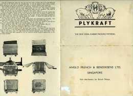 Publicité Plykraft Anglo French And Bendixsens Ltd Singapore - Publicités