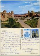Peru - Cusco - Plaza de Armas - used 1986 - nice stamps