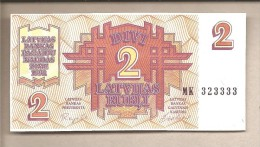 Lettonia - Banconota Non Circolata FdS Da 2 Rubli P-36 - 1992 - Lettonia