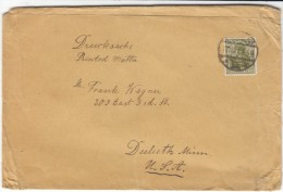 Sc#126 60 Pf Germania, 1920 Issue, 1921 Cover Berlin To Duluth Minnesota - Germany