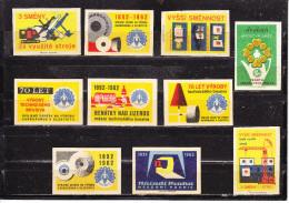 10 Verschiedene Tschechische Etiketten Ab Ca. 1950 (59974) - Zündholzschachteletiketten