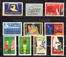 10 Verschiedene Tschechische Etiketten Ab Ca. 1950 (59975) - Zündholzschachteletiketten
