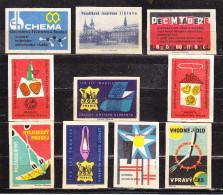 10 Verschiedene Tschechische Etiketten Ab Ca. 1950 (59976) - Zündholzschachteletiketten